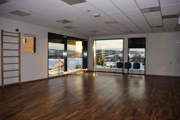 TRIMROM: Dette er fysio- og ergoterapiavdelingens treningsrom.