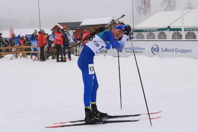 Mathias Indrelid Haugen tok fjerdeplassen i klasse M19 i lørdagsrenn.