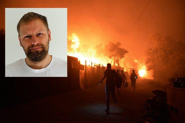 MOTTAK: – Stort lavere kan ikke lista legges, skriver Sindre Sørhus om regjeringens respons på den humanitære krisa i Moria-leiren.
