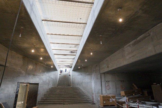 LYS: Undergangen vil få åpen lyssjakt fra plattformene. På bildet er den bare midlertidig dekket til.