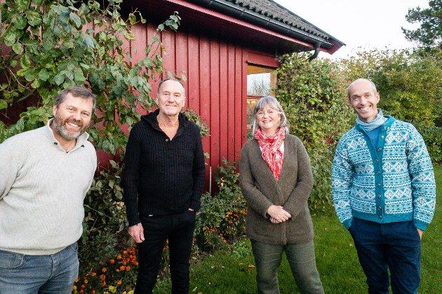 Ås Senterparti ønsker mer spredt og variert bebyggelse. Fra venstre: Svend Trygve Kvarme, Odd Vangen, Annett Michelsen og Gisle Bjørneby.