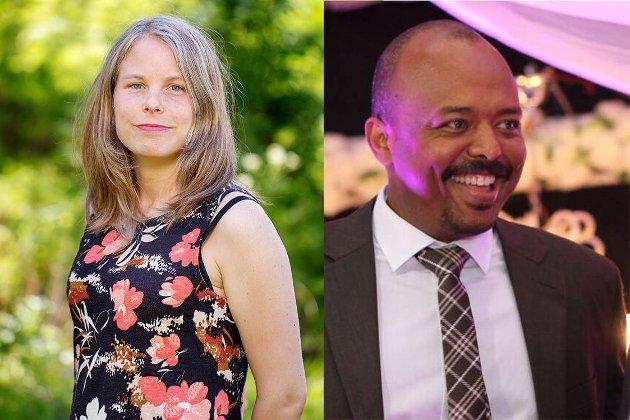 Kirsti Bergstø og Haitham El-noush - 1. og 2. Stortingskandidat for SV i Akershus