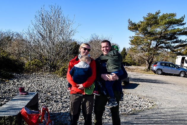 Hanne Thon (37), Eivind Undheim (36) og guttene Håkon og Eirik.