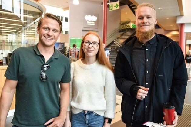 Roar Frantsvåg (fra venstre), Andrea Ringdal og Kristoffer Lund