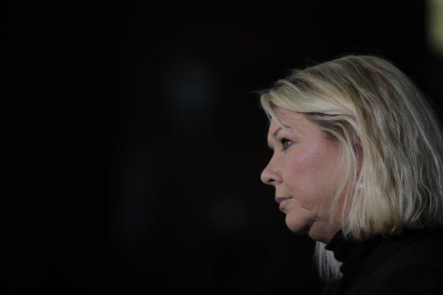 Oslo 20200326.  Pressekonferanse med justis- og beredskapsminister Monica Mæland. Foto: Vidar Ruud / NTB scanpix