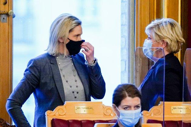 ETTERFØLGER? Siv Jensen har pekt på Sylvi Listhaug som sin etterfølger i Fremskrittspartiet, men det er mange i partiet skeptiske til fordi hun er kontroversiell og kan skape splittelse.
