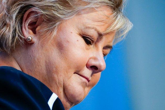BEKLAGER: Denne uka kunne NRK avsløre at statsminister Erna Solberg samlet familien to kvelder på rad og var flere enn ti personer som spiste middag sammen.