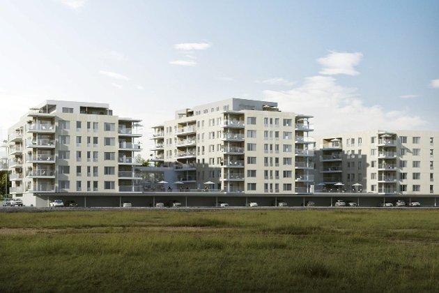 Varierende størrelser: Leilighetene blir på mellom 48 og 128 kvadrat, og både den minste og største er allerede solgt.