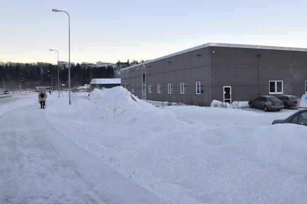 Dekker BEHOV: Det bygges stadig i Mellomvika og det er åpenbart et behov for en nærbutikk i dette området, mener Johan Petter Røssvoll. Foto: Hugo Charles Hansen