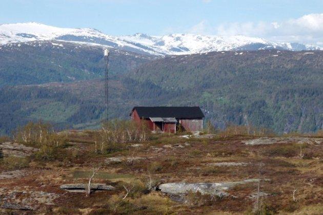 Ikke bruk for likevel: Breiband.no kjøpte TV Helgelands hytte og mast på Mofjellet i 2010, men innså fort at de faktisk ikke hadde bruk for den og prøvde å kvitte seg med kjøpet. Foto: Arne Forbord