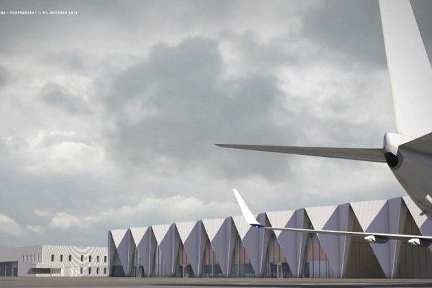 Terminalbygget, Hauan: Slik er terminalbygget tenkt å se ut på den nye flyplassen.