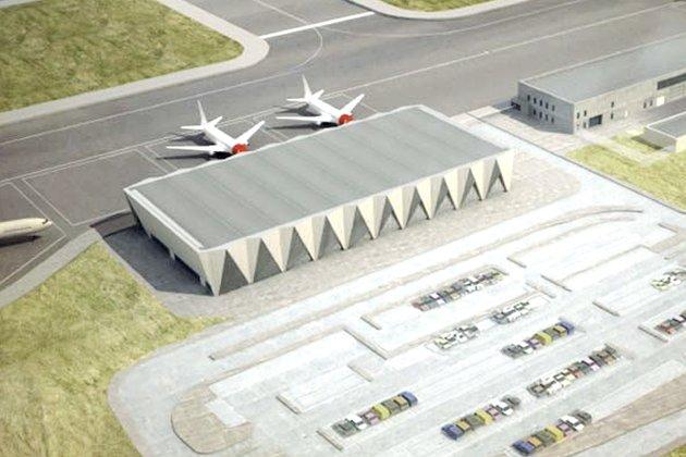 Terminal:  Slik ser Avinor for seg at den nye flyplassen vil bli. Skisse: Avinor