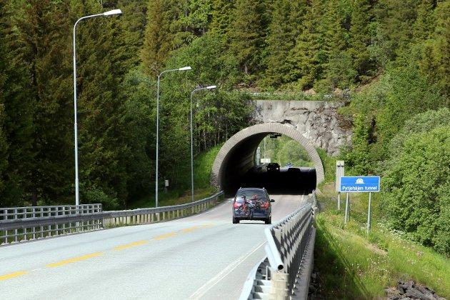 De gjennomgående stamveiens skal prioriteres høyt, mener Senterpartiet i Nordland. Illustrasjonsbildet er fra E6 i Hemnes.