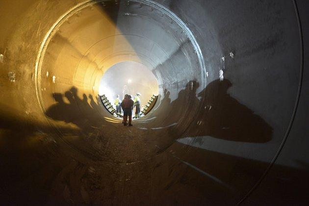 Tunnelen i nye Nedre Røssåga Kraftstasjon.