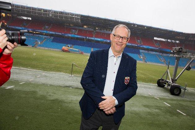 Svenske Lars Lagerbäck ble presentert som landslagssjef for herrelandslaget i fotball på en pressekonferanse på Ullevaal stadion i Oslo onsdag. Foto: Håkon Mosvold Larsen / NTB scanpix