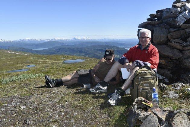 FRA STRAUMEN: Oddmund Ørringmo og Kjell Svaleng bor i Straumen, og er mye på Slettafjellet.