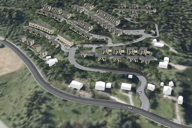 Dette prosjektet på Løkberg ved Båsmoen er stridens kjerne.