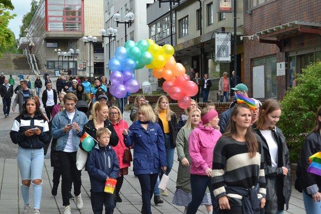Pride paraden i Mo i Rana.
