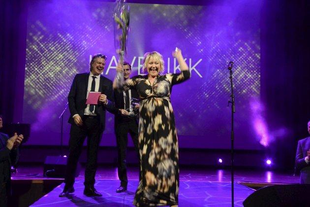 Jubel: Nina Rødahl Friis i Havblikk jubler for seieren som årets bedrift under Gallaria 2018. I dag, 18. januar 2019, er det igjen klart for Gallaria.