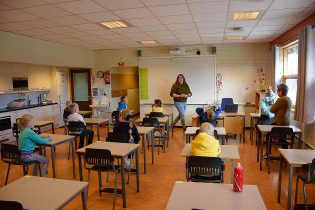 Barnas beste: Har elevenes beste blitt glømt i skoledebatten, spør innsender.  Her fra undervisning ved Lismarka skole.