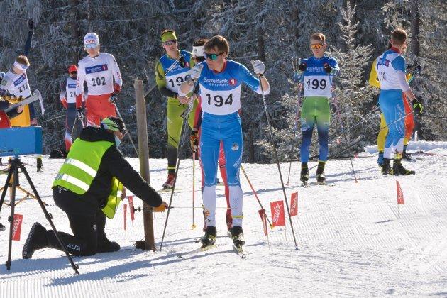 Vinner: Jørgen Harby leverte en svært godt løp på Veldre sag. Ingen av de 36 andre deltakerne fra Innlandet i M19-20 navn kunne måle seg med brøtningen.