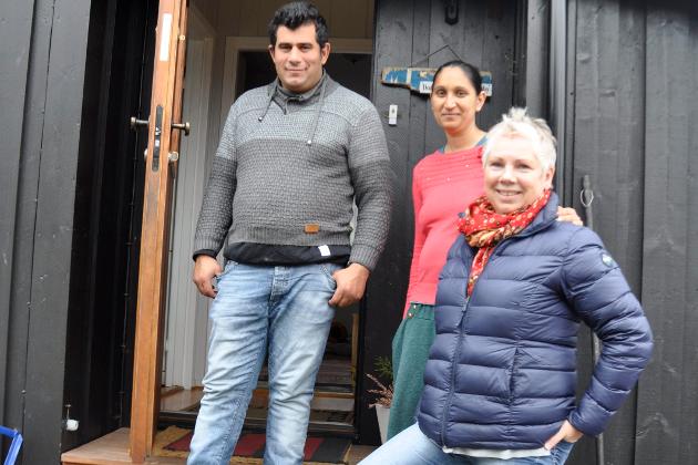 For Monica og Constantin Stamate er Anne Gro Wenners hjem blitt «hjemme» i Norge.
