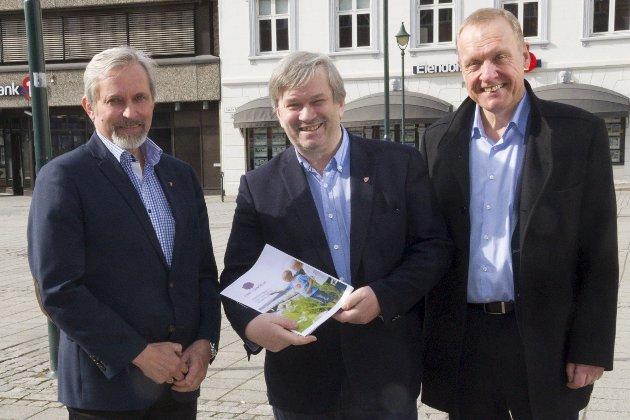 De forhandlet fram en plan, de lokale ordførerne Per R. Berger, Kjell B. Hansen og Lars Magnussen. – Planen har ambisiøse målsettinger, sier Lise Bye Jøntvedt og Inger Kammerud i dette innlegget.