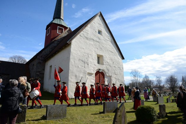 Hole kirke, her under 1716-markeringen.