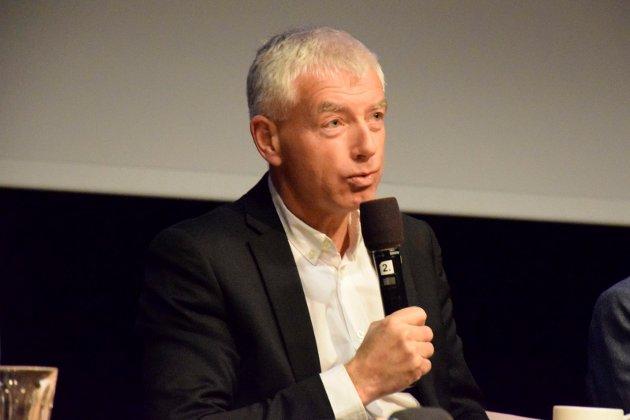 Rådmann i Ringerike, Tore Isaksen, på Ap-møte om byutvikling på Ringerike folkehøgskole.