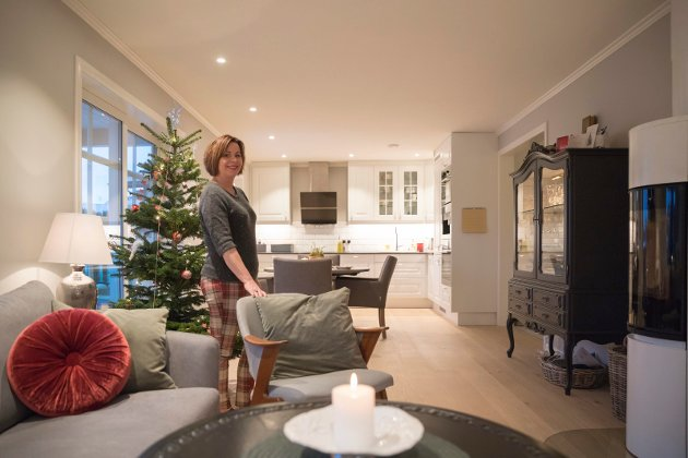 HJEMMEKJÆR: Elisabeth er hjemmekjær og det er viktig at det er koselig. Huset er bygget av Sandvold boliger, tilpasset tomten.