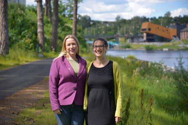 KANDIDATER: Hilde Marie Steinhovden og Anne Erita Berta fra Miljøpartiet De Grønne