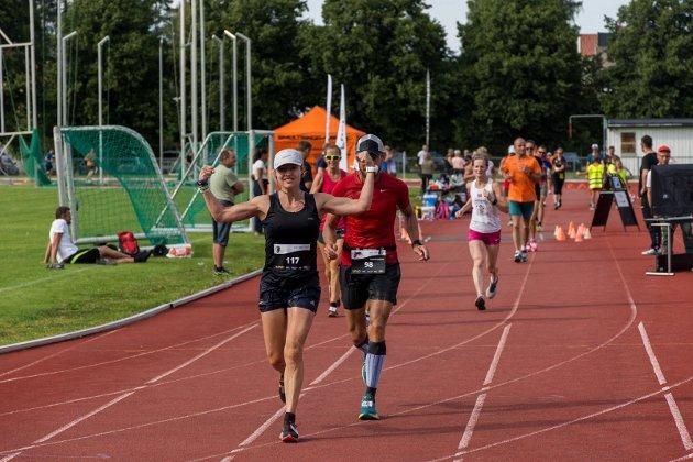 RINGERIKE 6-TIMERS: Therese Falk var suveren i dameklassen, med drøyt 71 kilometer.