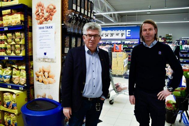 GÅRDEIER: Paal Haakensen er fornøyd med hvordan Didrik Koren har innrettet seg i lokalene REMA 1000 leier.