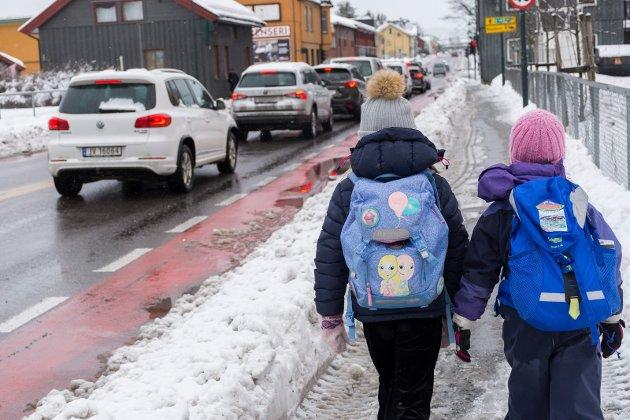 SKOLEVEI: Det ligger inne flere tiltak langs Hønengata i tiltaksplanen fra kommunen.