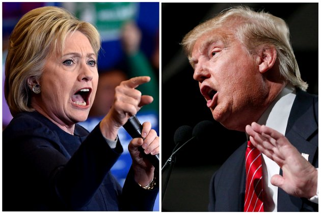 BRUTAL VALGKAMP: Alt tyder på at det blir demokraten Hillary Clinton mot republikaneren Donald Trump i valginnspurten. FOTO: NTB Scanpix