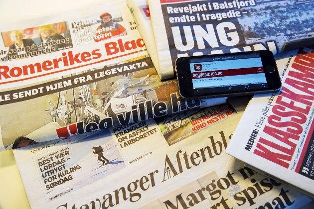 Grunnmuren: Lokalavisene er sentrale i å sørge for at lokaldemokratiet i kommunene fungerer. Det gjør lokalavisene til selve fundamentet i norsk mediemangfold.Foto: NTB Svanpix
