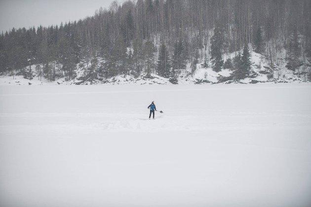 – Snål sak: Innsenderen kommer med råd i forbindelse med brøytenekten på isen i Gansvika. Foto: Vidar Sandnes