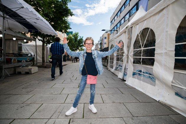 Thilia Berg Storbakken har akkurat kommet til byfesten
