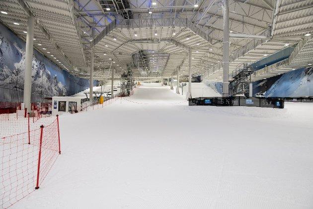 Ren og hvit. Det er like før det skal kry av ivrige skiløpere her.