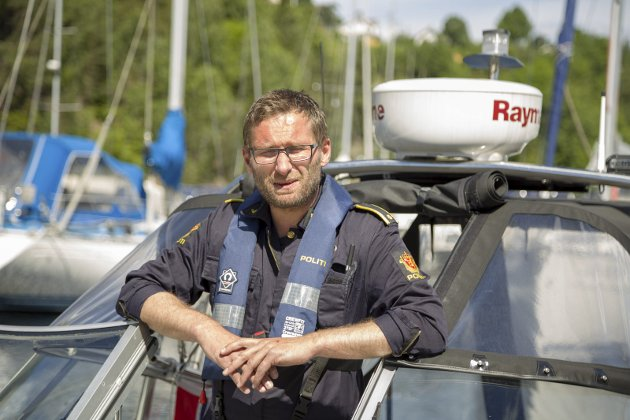 POSITIVT: Avsnittsleder Kurt Springer ved Røyken og Hurum lensmannskontor kommer med positive tall.