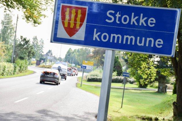 Grensa mellom Stokke og Tønsberg ved Vear.