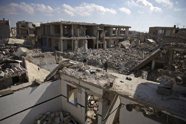 KRIG: Krigen i Syria bekymrer også barn i trygge, fredelige Norge. Dette bildet er tatt i Damaskus.