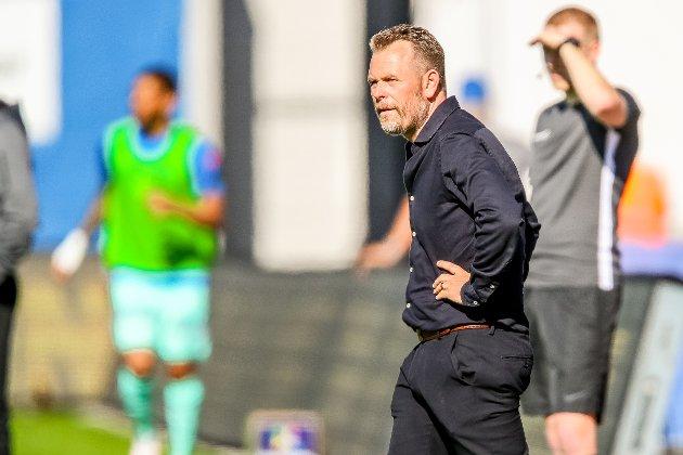 SINT: Mikael Stahre var med rette sint etter kampen i Kristiansund.