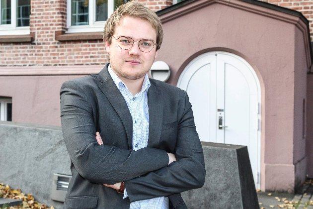 «Fremskrittspartiet skal fortsette kampen mot den skattekåte venstresiden i norsk politikk. Vi skal fortsatt jobbe for lavere skatter og avgifter for folk flest», skriver Niklas Eriksen, stortingskandidat for Østfold Frp, i dette innlegget. (Foto: Mette Eriksen, Moss Avis)