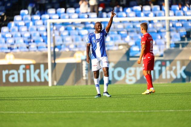 FENOMENAL: Ibrahima Koné spilte en fenomenal kamp for Sarpsborg 08 mot Sandefjord.