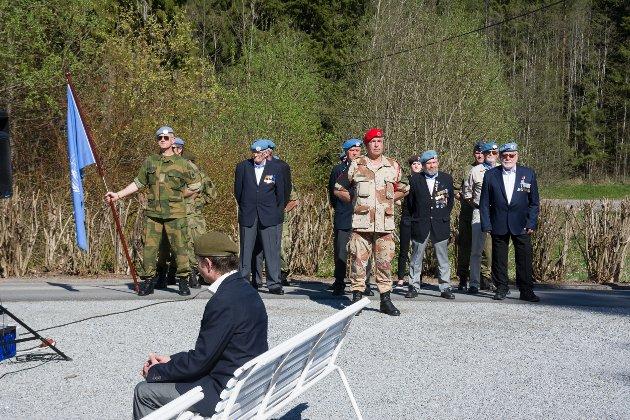 Stilte opp: Veteraner, reserveoffiserer og HV-soldater deltok i markeringen.