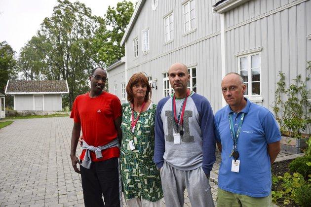 Uten jobb: Saleban Hassan, Torill Tunby, Gustav Aannerud og Joachim Aarne mister jobbene sine.
