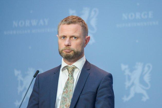 Helse- og omsorgsminister Bent Høie  på pressekonferanse om koronasituasjonen og reiser. Foto: Annika Byrde / NTB scanpix