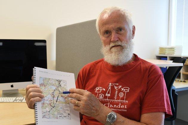 DROPP LINJA: Odd Steinar Eide har inga tru på at straumtilførsla til Hjelmeland blir betre via «sytrådar» på øyane i Stavanger.