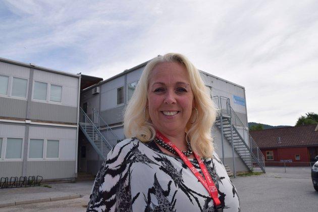 Susanne Moen, tillitsvalgt for åtte skoler i Notodden kommune, Fagforbundet. Heddal barneskoe feiden